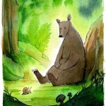bear, forest, Nature, Animal, snail, and woods