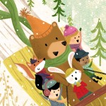 winter, Snow, sled, Friends, Woodland Creatures, and Animals