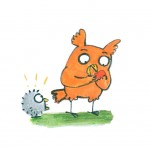 hungry, greedy, Food, Owls, owl, chick, owlet, complaining, sharing, demand, demanding, Sequential, and comic