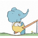 Recess, elephant, rabbit, Bunny, problem, stuck, see-saw, seesaw, playground, School, children, and elementary