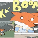 Sequential, comics, comic, fox, scared, fright, thunder, hiding, hungry, and  decision