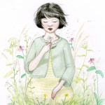 flowers, appreciating nature, and children in nature