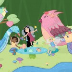 fairies, fairy, Princess, fairytale, birds, and tea party