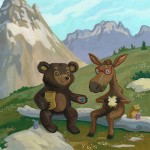 mountains, Montana, bear, moose, Kindness, and friendship