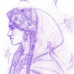 fairy, contemporary fairytale, Character Sketch, sketchbook, and Fantasy