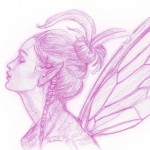 Character Sketch, pencil sketch, sketchbook, fairy, Fairy Character, and Fantasy