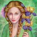 lord of the rings, Watercolor, Fantasy, Portrait, and Goldberry
