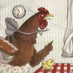 classic tale, Animals, chicken, pig, goat, cat, and hen