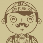 San Francisco, bike, hipster, tattoo, tattoos, Circus, and moustache