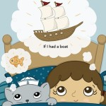 daydreaming, childhood dreams, kitty cat, Pirate Girls, and pirate ship
