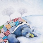 bear, Sleeping Bear, winter, Winter fun, kids in snow, playing in snow, spring, kite, Kite Flying, and flowers