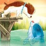 Picturebook, a dog-friendhsip story, seals, and a picture book
