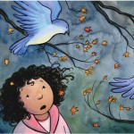 birds, children in nature, and storm