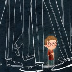 lost, being scared, Picture Book Art, and children's emotions