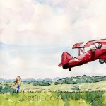 biplane, flying away, and American History
