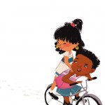 Bikes, cute kids, Latina child, tweens, and summer