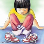 shoes, Beginner Reader, Early reader, Children, asian girl, and Chinese American