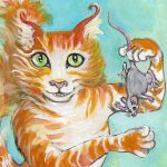 Animals: cats, birthday, and gift