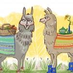 alpaca, llama, lunch, and Animal Picnic