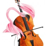 Flamingo, cello, birds, and orchestra