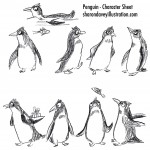 penguin, and character design