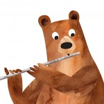 Music, Rehearsal, Band, Animals, flute player, bear, fox, and owl
