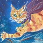 super hero and Animals: cats