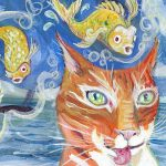 fish, daydreaming, Daydream, and Cats