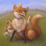 Cute Fox, and chick