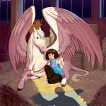 pegasus, A girl and her horse, and hiding