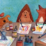 Animal, animal friends, childrens books, and childrens illustration