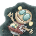 Robot, space, steampunk, and fantasy
