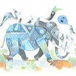elephant, birds, and Music