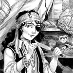 Pirate, Ferret, antique shop, shop, Fantasy, middle grade, middle grade fantasy adventure, and black and white