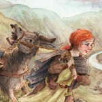 Quest, donkey, Girl and donkey., raven, Dog, landscape, Adventure, Fantasy Adventure, and Children's fantasy