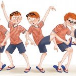 a picture book, boy, and dance