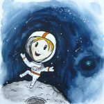 astronaut, Gender Neutral, outer space, and Galaxy