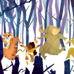 kid lit, Animal, lion, Tiger, elephant, bear, woods,   forest, and trees