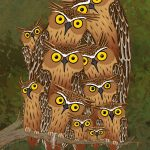 Illustration, #owl, Owls, and nature and wildlife