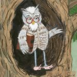 #owl, #animal, and childrens illustration