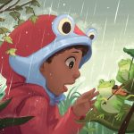 Draw This, children of color, frog, and rainy day