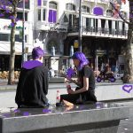 Girls, City & Town Life, #Friendship, and purple