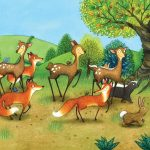 journeys, countryside, deer, foxes, Bunny, and snails