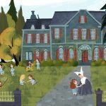 Illustration, #Children's book, a picture book, Paris, and fairy house