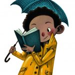 rainy day, child reading, books, and Books and Reading