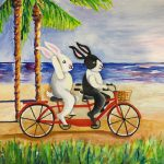 rabbit and bicycle built for two