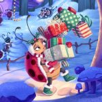 ladybug, christmas, Christmas presents, winter activities,  Winter,   snow, animals, bugs, and insects