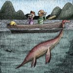 loch ness monster, searching, cryptid, and Boat