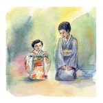 A Mother's Love, daughter, Japanese Tea Ceremony, and  preschool
