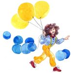 balloons, american girl, and birthday party